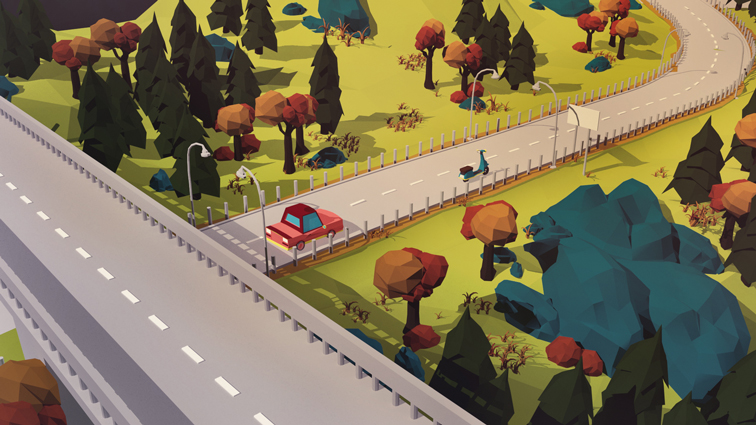 Paesaggio LowPoly Day